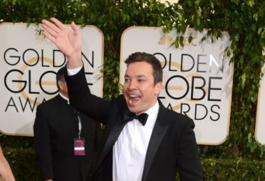 Jimmy Fallon arrives at the 71st annual Golden Globe Awards at the Beverly Hilton Hotel on Sunday, Jan. 12, 2014, in Beverly Hills, Calif. (Photo by Jordan Strauss/Invision/AP)